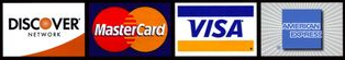 Now Accepting Discover, Master Card, Visa, and Discover